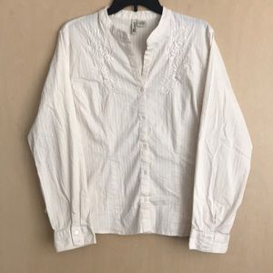 St. John's Bay Tops - St John's Bay ivory stretch blouse Size XL